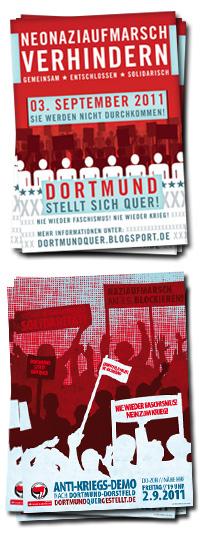 Dortmund stellt sich quer! Naziaufmarsch am 3.9.2011 in Dortmund blockieren