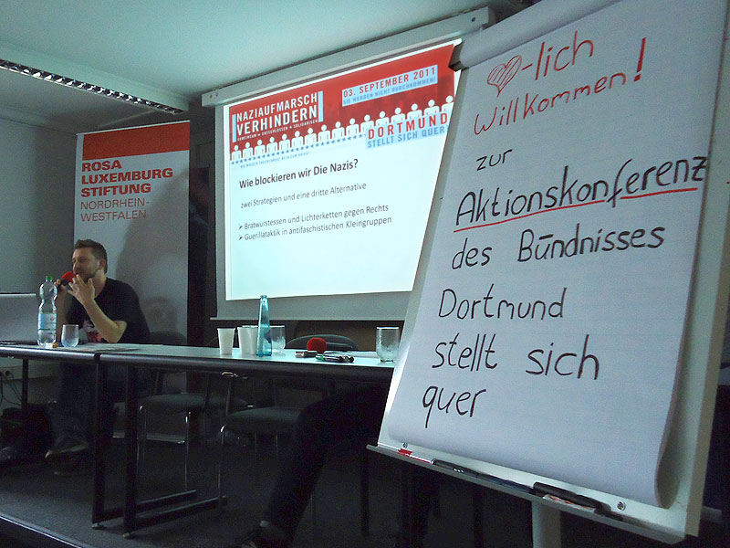 Aktionskonferenz Dortmund stellt sich quer am 16.7.2011 in Dortmund