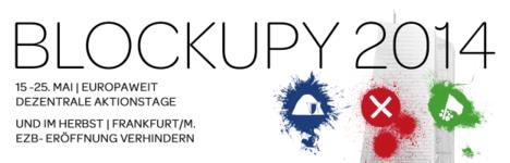 Banner von Blockupy 2014