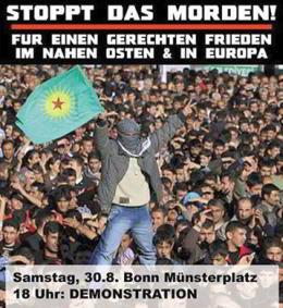 Stoppt das Morden! Für einen gerechten Frieden im Nahen Osten und in Europa! Demo am 30.8.2014 in Bonn