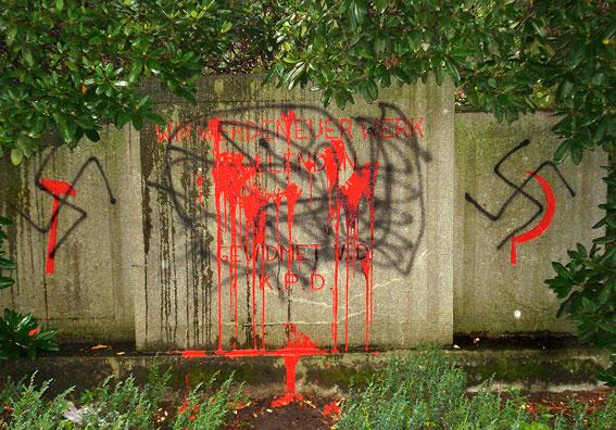 Anschlag in Dortmund von Nazis auf Denkmal für Kommunisten
