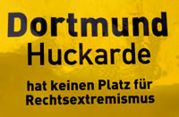 Dortmund bleibt nazifrei! Kein Raum für Nazis in Huckarde! Dortmund stellt sich quer!
