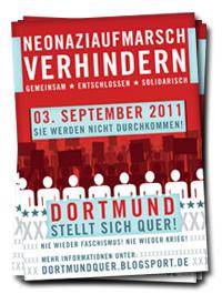 Dortmund Quergestellt! Naziaufmarsch am 3.9.2011 in Dortmund blockieren