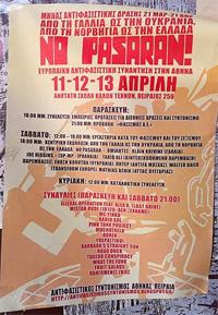 NO PASARAN! Internationale Antifa-Konferenz in Athen - Dortmund stellt sich quer!