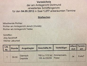 Prozess gegen Neonazis in Dortmund - Sven Kahlin, Dennis Giemsch und Alexander Deptolla