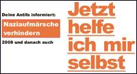 Jetzt helfe ich mir selbst - Infofaltblatt zu Blockaden gegen Neonazis
